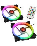 Ventoinha Raijintek IRIS 14 PWM LED RGB (Pack 2 + Controlador) - 140mm