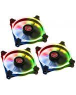 Ventoinha Raijintek MACULA 12 Rainbow RGB 120mm (Pack 3)