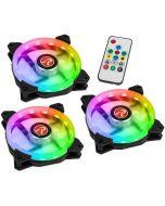 Ventoinha Raijintek IRIS 12 Rainbow A-RGB LED (Pack 3 + Controlador) - 120mm