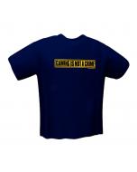 T-Shirt GamersWear NOT A CRIME Azul (L)