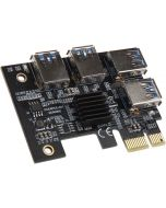 Adaptador Kolink PCIe x1 Quad x16 - Quad-Mining/Rendering Upgrade