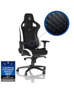 Cadeira noblechairs EPIC PU Leather SK Gaming Edition Preto / Branco / Azul