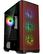 Caixa ATX BitFenix Nova Mesh TG SE A-RGB, Vidro Temperado - Preto/Vermelho