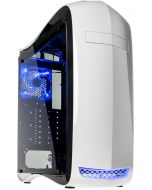 Caixa ATX Kolink Punisher Branco LED Azul Painel Acrílico