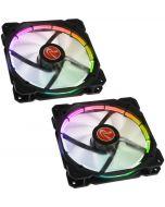 Ventoinha Raijintek Auras 14 PWM LED RGB (Pack 2) 140mm