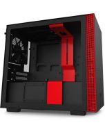 Caixa Mini-ITX NZXT H210 Preto / Vermelho Mate
