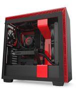 Caixa E-ATX NZXT H710 Preto / Vermelho Mate Vidro Temperado