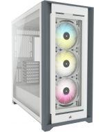 Caixa E-ATX Corsair 5000X iCUE RGB Smart Branco Vidro Temperado