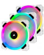 Ventoinha Corsair LL120 RGB PWM Branca (Pack 3) c/ Lightning Node PRO