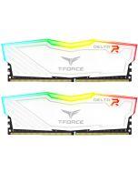 Team Group Kit 16GB (2 x 8GB) DDR4 3000MHz Delta Branco RGB CL16