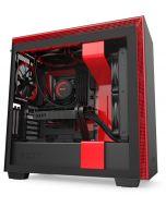 Caixa E-ATX NZXT H710i Preto / Vermelho Mate Vidro Temperado