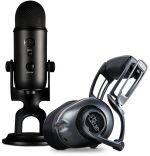 Bundle Microfone Blue YETI + Auscultadores Blue Mo-Fi NiP Ultimate Streamer Pro