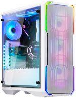 Caixa E-ATX BitFenix Enso Mesh RGB Branco Vidro Temperado