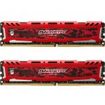 Crucial Kit 32GB (2 x 16GB) DDR4 3200MHz Ballistix Sport LT Red CL16