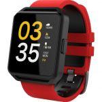 Smartwatch FitGo FW15 Square Vermelho / Preto