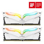 Team Group Kit 16GB (2 x 8GB) DDR4 3000MHz Night Hawk Branco RGB CL16