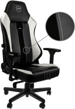 Cadeira noblechairs HERO PU Leather Preto / Branco - Limited Edition 2019