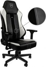 Cadeira noblechairs HERO PU Leather Preto / Branco - Limited Edition 2019