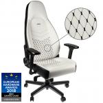 Cadeira noblechairs ICON PU Leather Branco / Preto