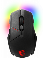 Rato MSI Clutch GM70 RGB Wireless Preto