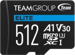 Cartão Team Group Elite MicroSDXC A1 UHS-I U3 V30 512GB