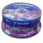 DVD+R DL Verbatim 8x Imprimíveis Pack 25