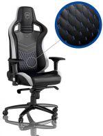 Cadeira noblechairs EPIC PU Leather Preta / Branca / Azul Edição Limitada