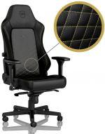 Cadeira noblechairs HERO PU Leather Preto / Dourado