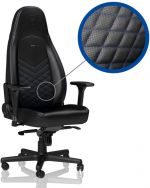 Cadeira noblechairs ICON PU Leather Preto / Azul