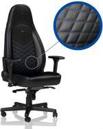 Cadeira noblechairs ICON PU Leather Preto / Azul