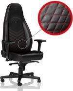 Cadeira noblechairs ICON PU Leather Preto / Vermelho