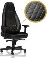 Cadeira noblechairs ICON PU Leather Preto / Dourado