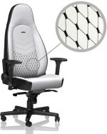 Cadeira noblechairs ICON PU Leather Branco / Preto