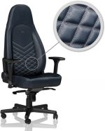 Cadeira noblechairs ICON Real Leather Azul Midnight