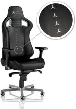 Cadeira noblechairs EPIC PU Leather Mercedes-AMG Petronas Motorsport Edition