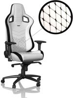 Cadeira noblechairs EPIC PU Leather Branco / Preto