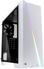 Caixa ATX Aerocool Cylon RGB, Branca, Janela Acrilico