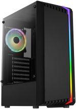 Caixa ATX Aerocool Bionic V2, RGB, Vidro Temperado, Preto