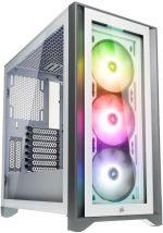 Caixa E-ATX Corsair 4000X iCUE RGB Branco Vidro Temperado