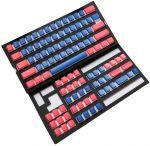 Conjunto de 108 Teclas Ducky Pudding Set, PBT, Double Shot, Azul/Vermelho (US)