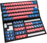 Conjunto de 108 Teclas Ducky Pudding Set, PBT, Double Shot, Vermelho/Azul (US)