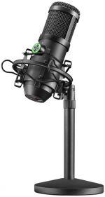 Microfone Mars Gaming MMICX Pro Studio, USB, Preto