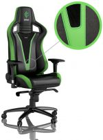 Cadeira noblechairs EPIC PU Leather Sprout Edition Preto / Verde