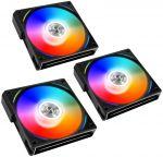 Ventoinha Lian Li UNI AL120 RGB PWM Preto 120mm (Pack 3)