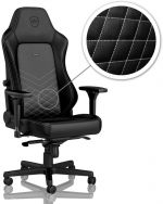Cadeira noblechairs HERO PU Leather Preto / Branco Platina