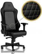 Cadeira noblechairs HERO PU Leather Preto / Dourado