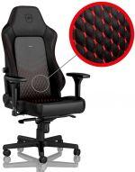 Cadeira noblechairs HERO Real Leather Preto / Vermelho
