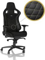 Cadeira noblechairs EPIC PU Leather Preto / Dourado