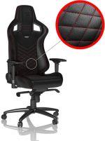 Cadeira noblechairs EPIC PU Leather Preto / Vermelho