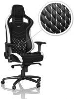 Cadeira noblechairs EPIC Real Leather Preto / Branco / Vermelho